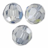 Swarovski crystal 6mm facetslebet rund, Crystal Blue Shade-20