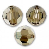 Swarovski crystal 6mm facetslebet rund, Crystal Bronze Shade-20