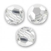 Swarovski crystal 6mm facetslebet rund, Crystal Comet Argent Light-20