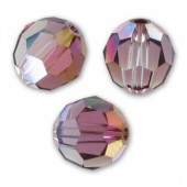 Swarovski crystal 6mm facetslebet rund, Crystal Lilac Shadow-20