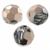 Swarovski crystal 6mm facetslebet rund, Crystal Rose Gold-20