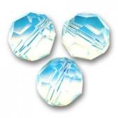Swarovski crystal, White Opal, 6mm facetslebet rund-20