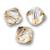 swarovski bicones 6mm crystal golden shadow