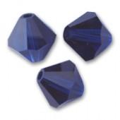Swarovski® crystal 6mm bicone, Dark Indigo-20