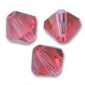 Swarovski® crystal 6mm bicone, Indian Pink-20
