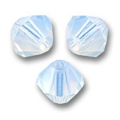 Swarovski® crystal 6mm bicone, White Opal-20