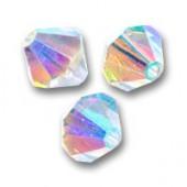 Swarovski® crystal 8mm bicone, Crystal AB2X-20