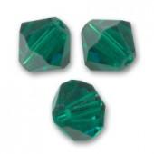Swarovski crystal 2,5mm bicone, Emerald, 10 stk-20
