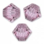 crystal antique pink swarovski bicones