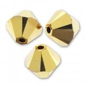 Swarovski bicones crystal aurum 2x