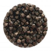 4mm swarovski bicones dark bronze