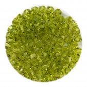 4mm swarovski bicones light olivine