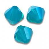 Swarovski bicone 6mm caribbean blue opal