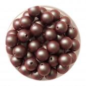 6mm Iridescent red swarovski pearls