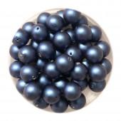 6mm blå swarovski perler