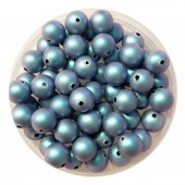 6mm lyseblå swarovski perler