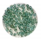 3mm Swarovski bicones light turquoise luminous green