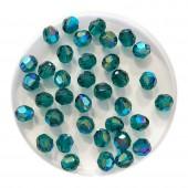 4mm swarovski krystal facetslebet rund emerald shimmer