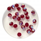 4mm swarovski krystal facetslebet rund Siam Shimmer