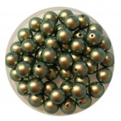 6mm Swarovski pearls Iridescent Green