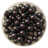 6mm Swarovski pearls Iridescent purple