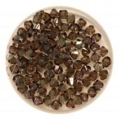 4mm swarovski bicones bronze shade