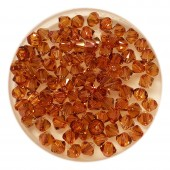 4mm Swarovski bicones copper