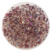 4mm swarovski bicones lilac shadow