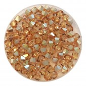4mm Swarovski bicones metallic sunshine