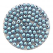3mm swarovski pearls iridescent light blue
