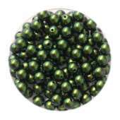 4mm swarovski pearls scarabaeus green