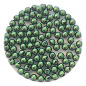 3mm swarovski pearls scarabaeus green
