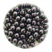 4mm Swarovski pearls iridescent purple