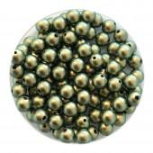4mm Swarovski pearls iridescent green