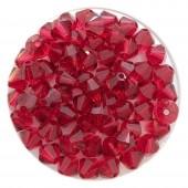 5mm røde swarovski bicones scarlet