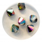 8mm swarovski bicones crystal vitrail medium