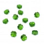 Swarovski Crystal, 8mm facetslebet kløver, Fern Green, 1 stk-20