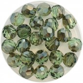6mm swarovski crystal peridot bronze shade
