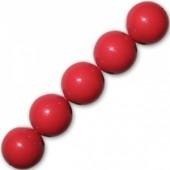 3mm koral røde swarovski perler
