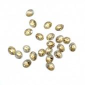 Swarovski Crystal, 8x6,5mm Xilion Oval Pendant, Crystal Golden Shadow, 2 stk-20