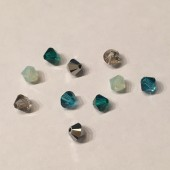 4mm swarovski bicones, 10 stk mix 09-20