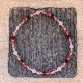 Swarovski armbånd pink