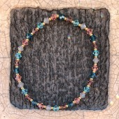 Swarovski armbånd turkis og rosa