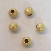 5mm stardust perle i guldbelagt sterling sølv, 5 stk-20