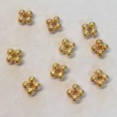 5mm perle af 4 kugler i guldbelagt sterling sølv, 5 stk-20