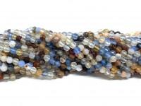 3mm facetslebne perler multifarvet