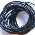 Rund læder 4mm sort-20