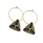 Håndsyede øreringe af miyuki Delica perler