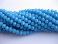 turkis blå facetslebne glasperler