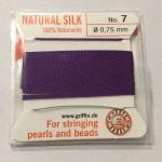 mørk lilla silkesnor 0,75mm
